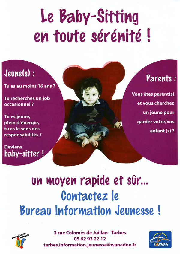 le service baby sitting du bij site d 39 informations en ligne sur tarbes et le grand tarbes. Black Bedroom Furniture Sets. Home Design Ideas
